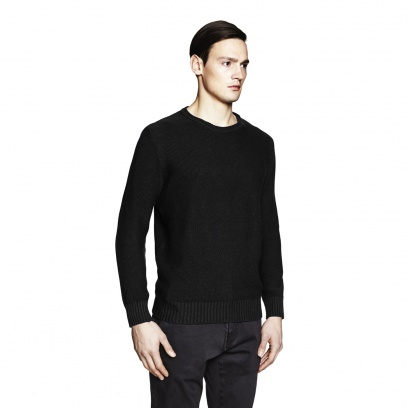 THE COTTON MIX O-NECK SWEATER