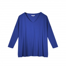 THE JERSEY VISCOSE, DEEP U-NECK - Long Sleeve