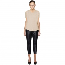 VISCOSE MIX U-NECK T-SHIRT