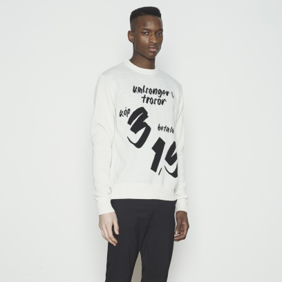 MENS HEAVY KNITTED CREW NECK